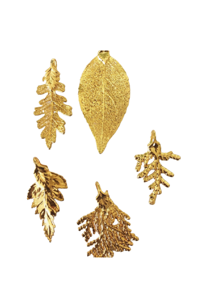 Gold Dipped Leaf Pendant