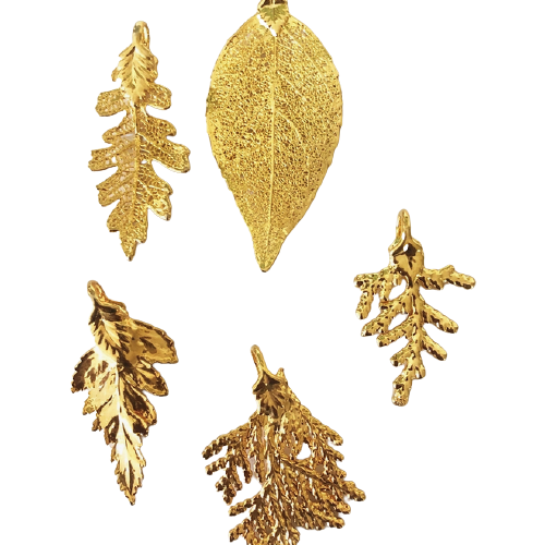 Gold Dipped Leaf Pendant-1