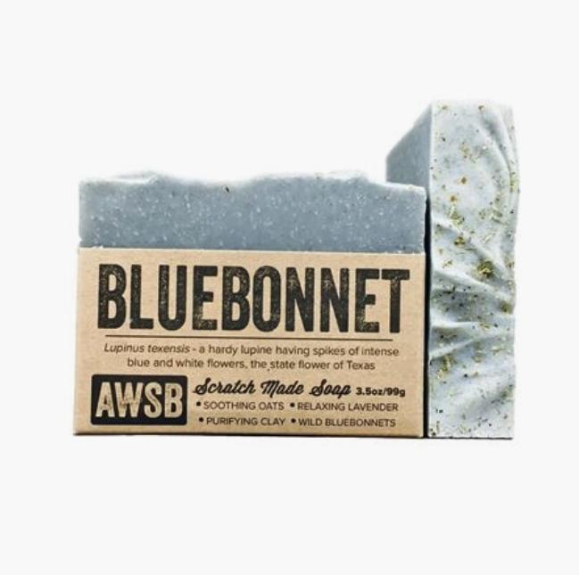 5238 - Soap - BLUEBONNET - 3.5oz - A Wild Soap Bar-1