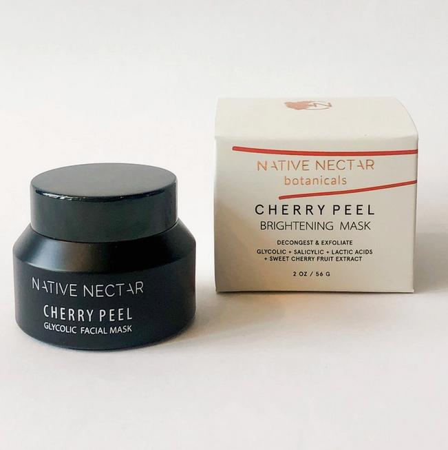 5256 - Cherry Peel Facial Mask - Glycolic Face Mask - Native Nectar-1