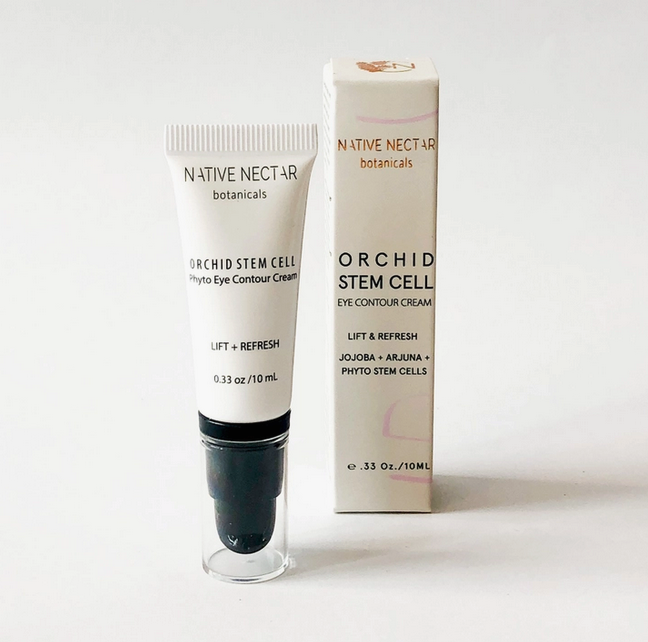 5257 - Orchid Stem-Cell - Eye Contour Cream - 10ml - Jojoba + Arjuna + Phyto Stem Cells - Native Nectar-1