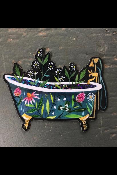 Glossy Sticker | Glitter Bathtub