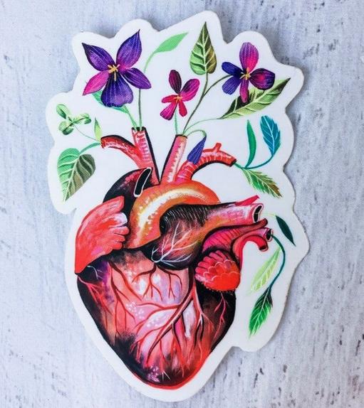 Matte Sticker   Garden Heart-1