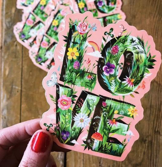 Matte Sticker | Love Grows-1
