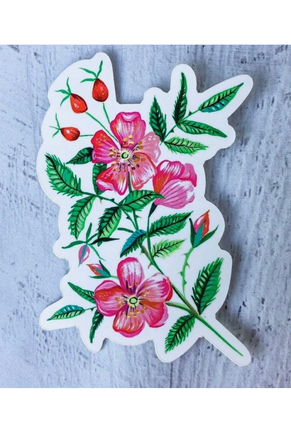Matte Sticker | Wild Rose