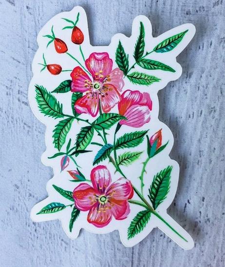 Matte Sticker   Wild Rose-1