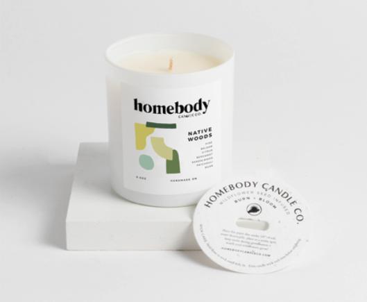 Bloom & Burn Candle | Native Woods-1