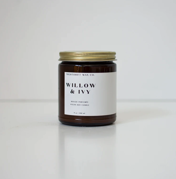 5301 - Candle - Willow + Ivy - Soy - 9oz - Nightshift Wax Company-1