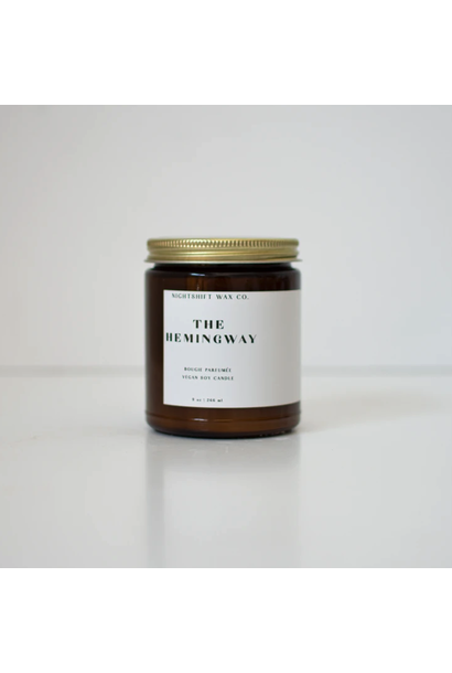 5300 - Candle - The Hemingway - Soy - 9oz - Nightshift Wax Company