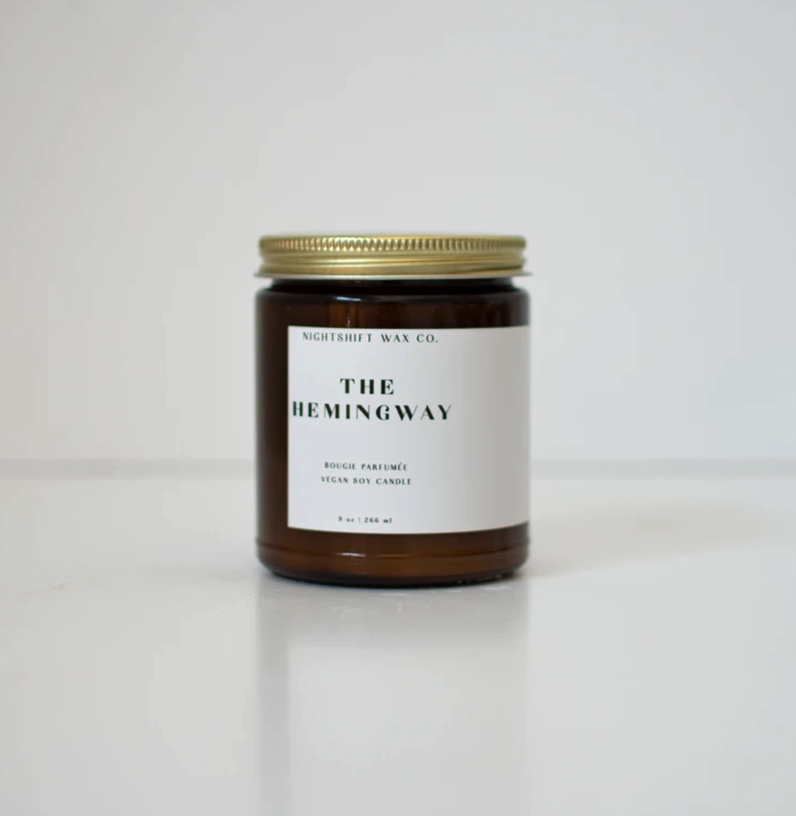 5300 - Candle - The Hemingway - Soy - 9oz - Nightshift Wax Company-1