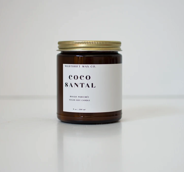 5298 - Candle - Coco Santal - Soy - 9oz - Nightshift Wax Company-1