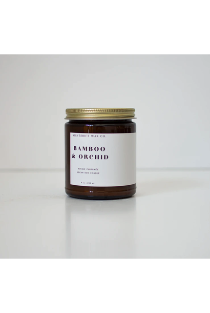 5297 - Candle - Bamboo + Orchid - Soy - 9oz - Nightshift Wax Company