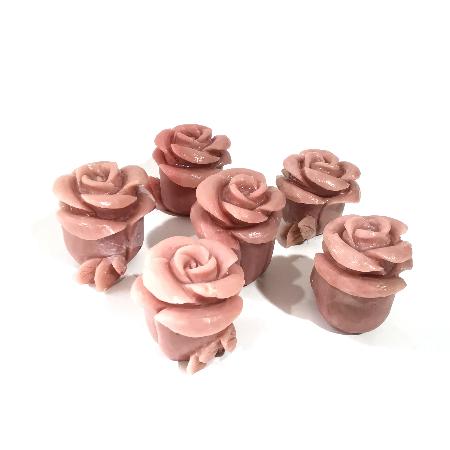 Pink Opal Rose Figurine-1