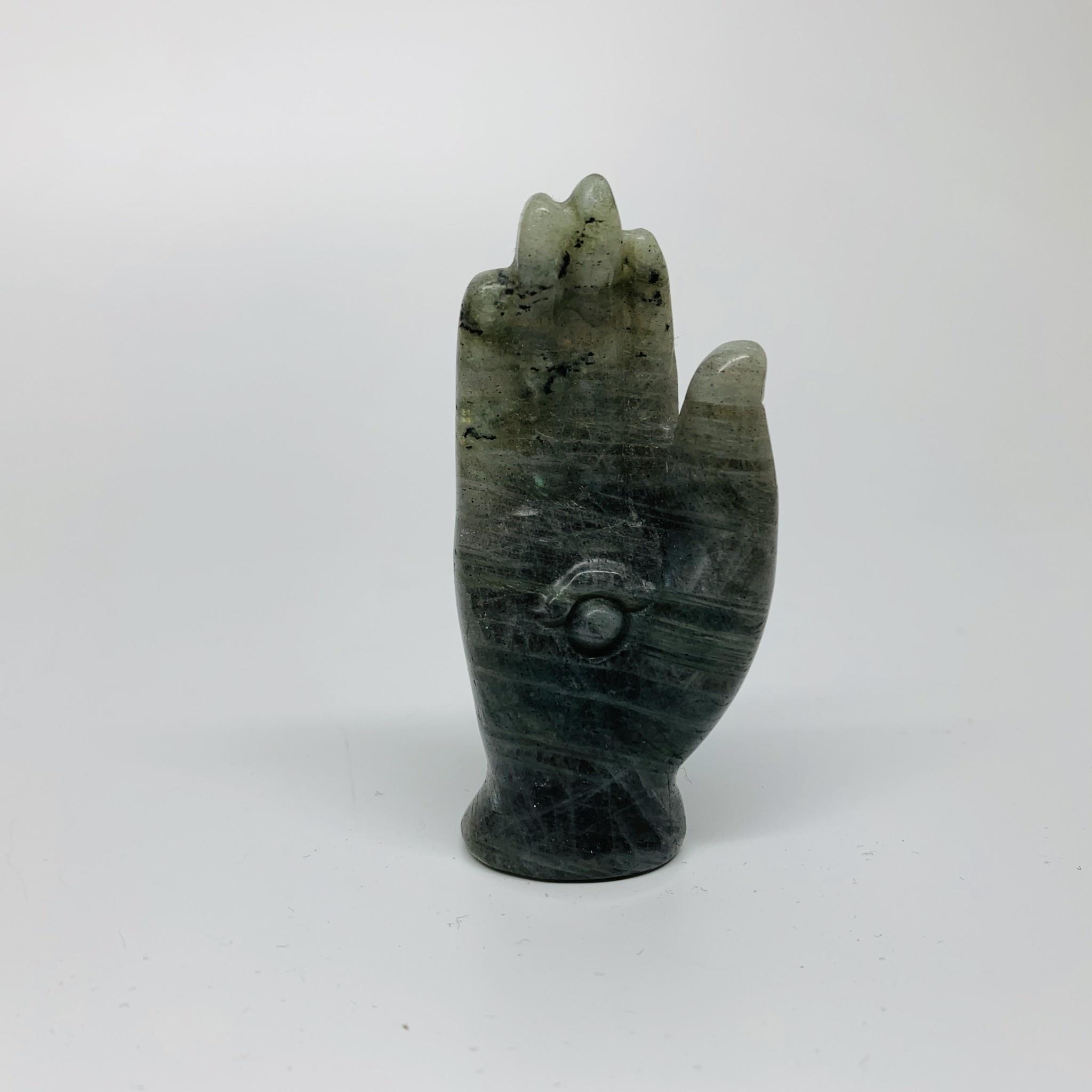 Crystal Carving   Labradorite Hand-1