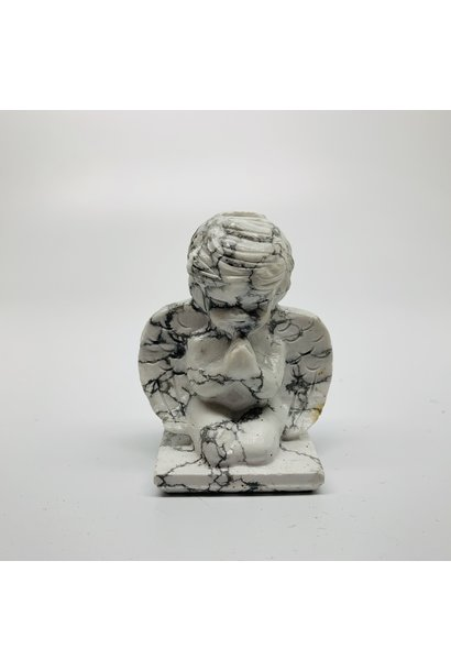 White Howlite Angel Figurine