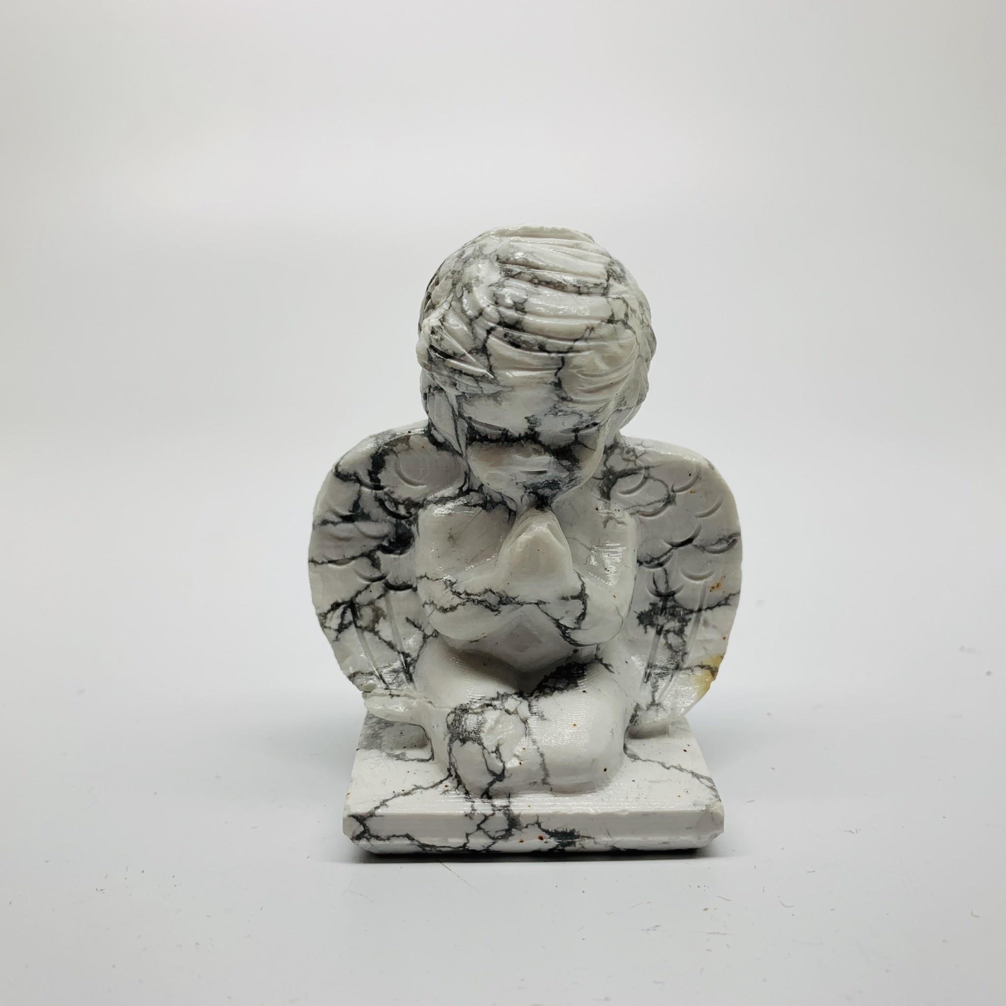 White Howlite Angel Figurine-1