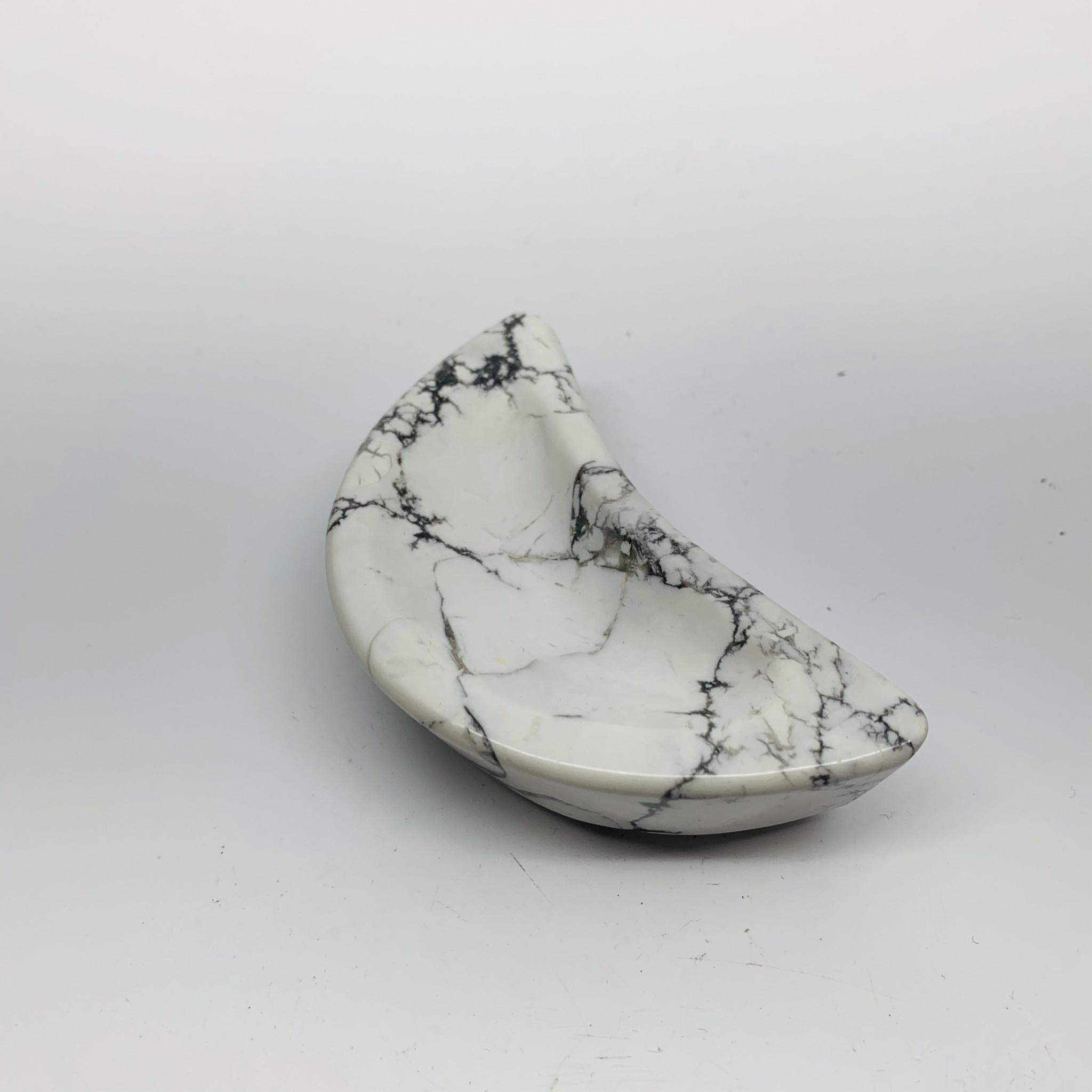 Moon Shaped Bowl | White Howlite-1