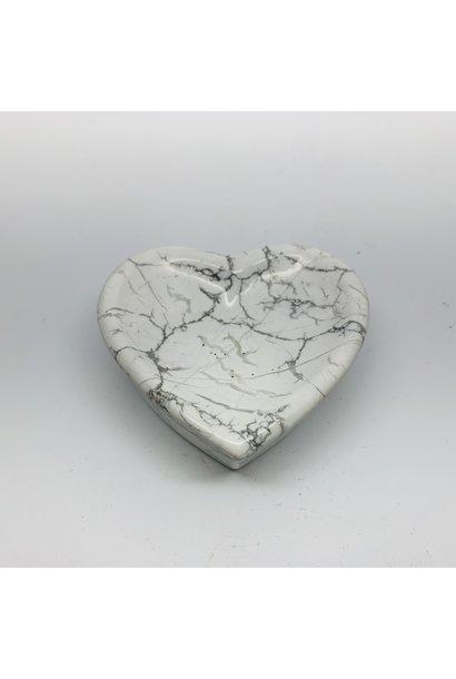 Heart Shaped Bowl | White Howlite