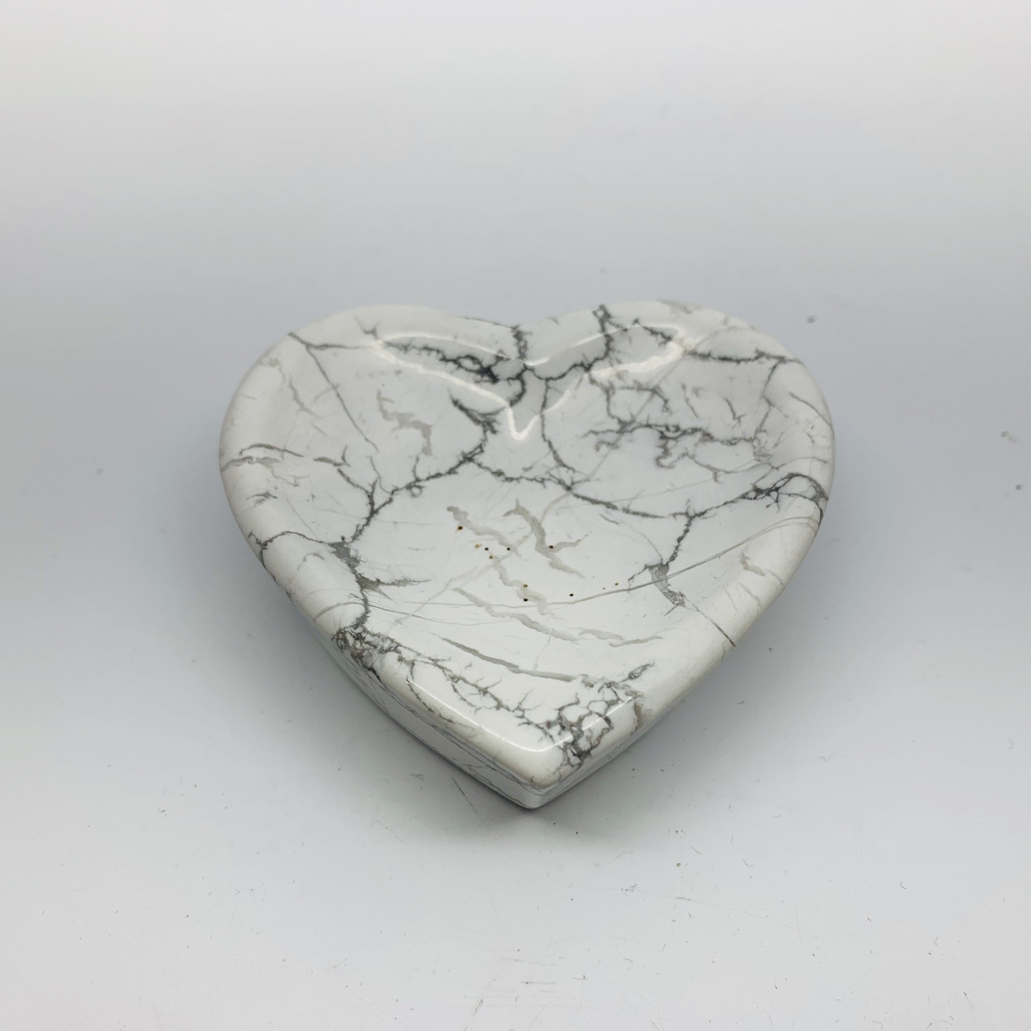 Heart Shaped Bowl | White Howlite-1
