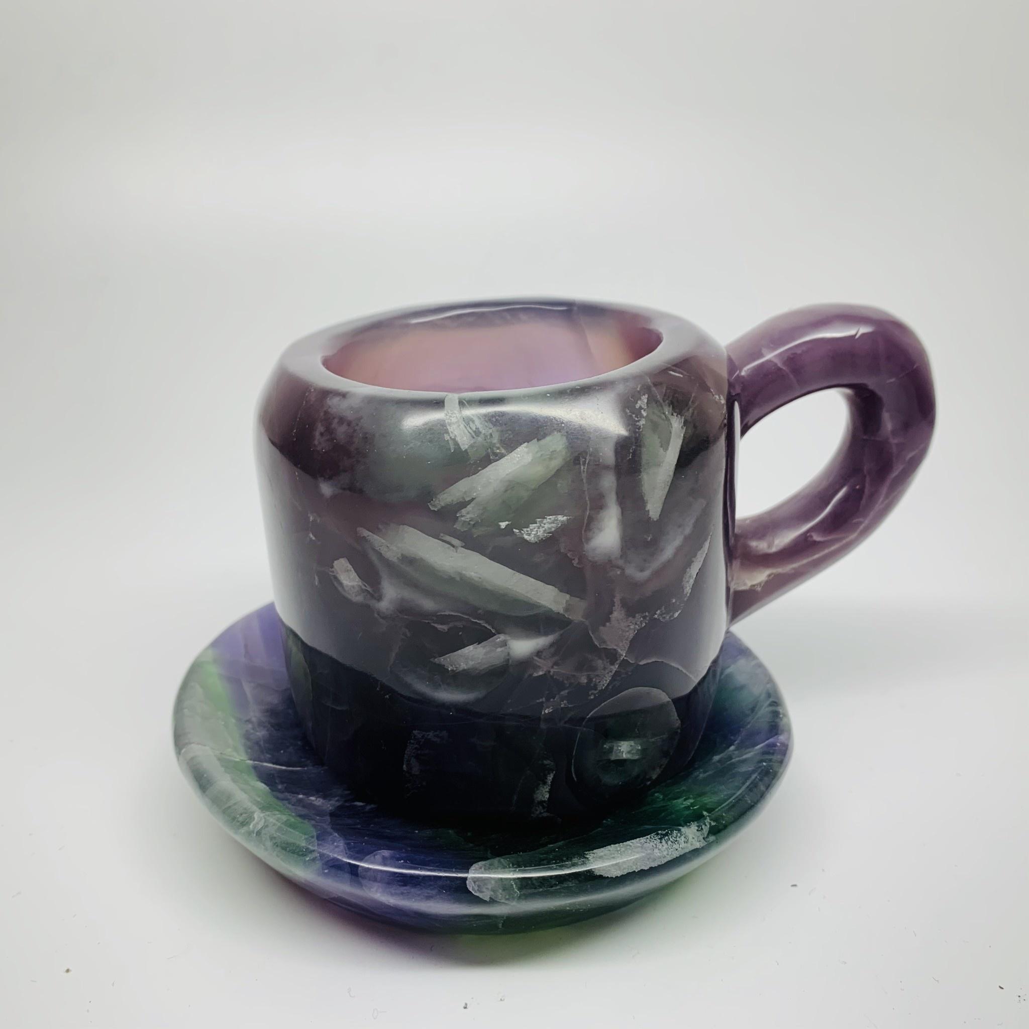 Crystal Mug & Coaster   Rainbow Fluorite-1