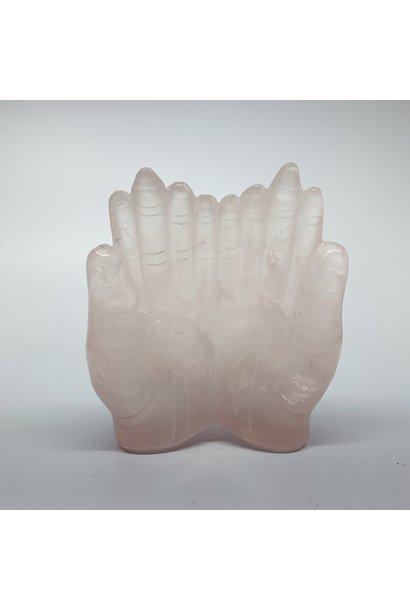 Crystal Carving   Praying Hands   Rose Quartz