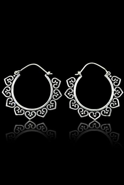 5384 - CocoLoco Jewelry - Zenna Hoops - SM - Sterling Silver - Alpaka Silver Earrings