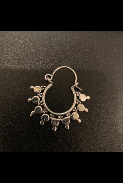 5390 - CocoLoco Jewelry - SMALL Sterling Silver Hoops - Alpaka Silver Earrings