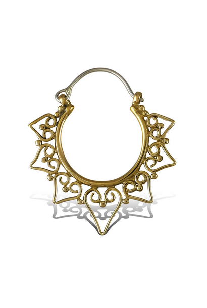 5391 - CocoLoco Jewelry - Belissa Hoops - SMALL - Brass w/ Silver Posts - Handmade Earrings