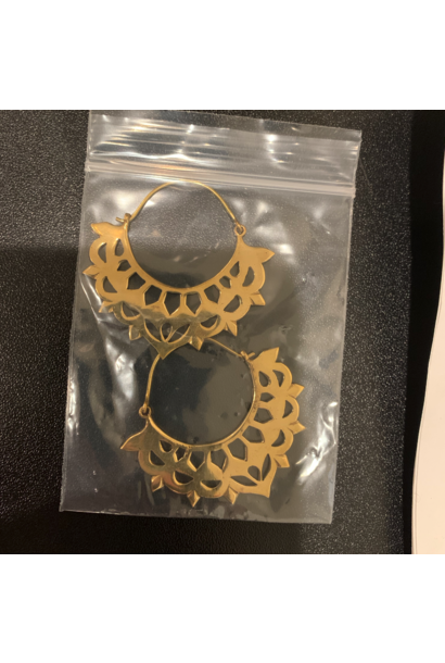 5392 - CocoLoco Jewelry - Medium Gold Hoops - Handmade Earrings