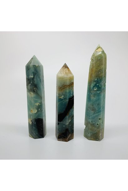 5398 - BLUE ONYX POINT - TOWER - GENERATOR POINT - 6 SIDED - PER G - BY WEIGHT