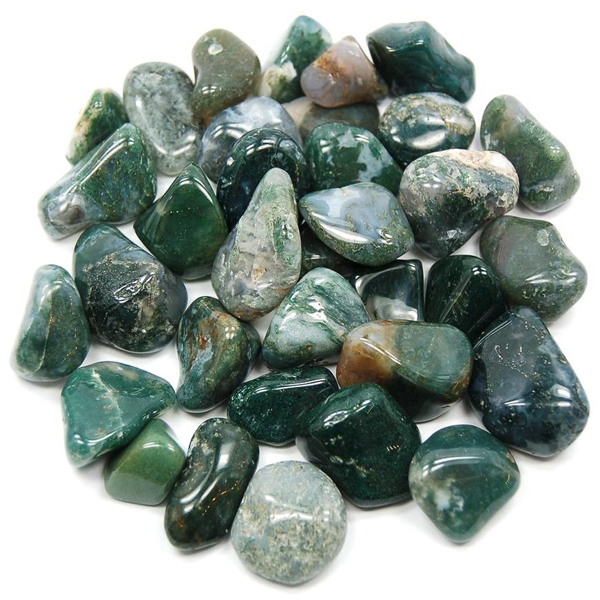 Tumbled Polished Stones | Moss Agate-2