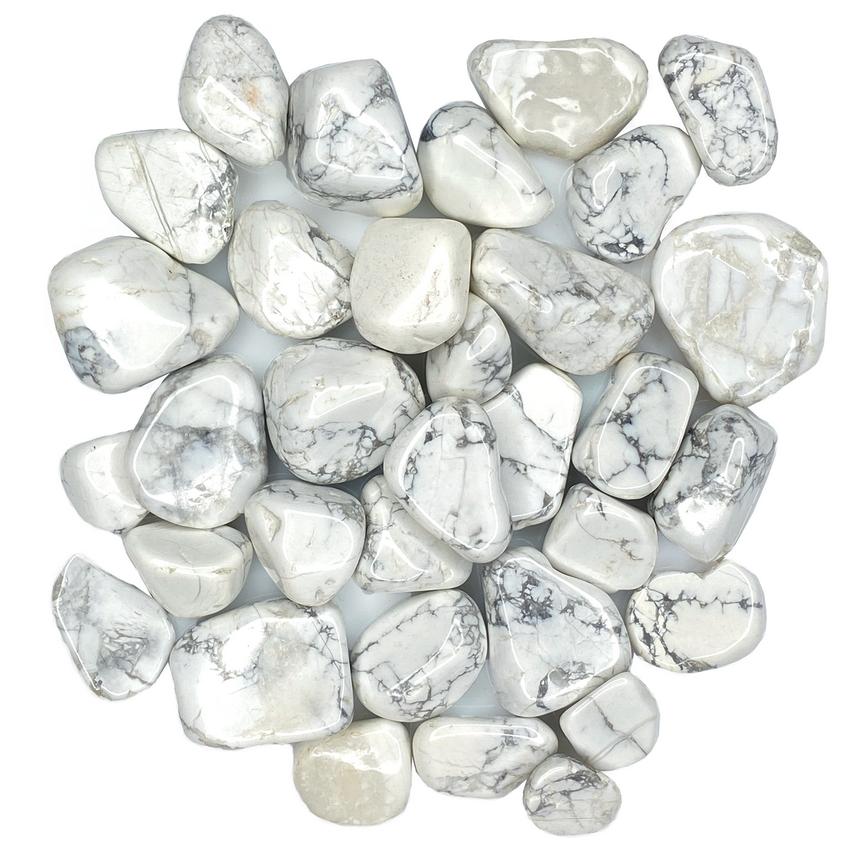 Tumbled Polished Stones | White Howlite-2