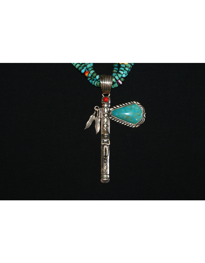 ACCESSORY Tomahawk on a 4 Strand Necklace
