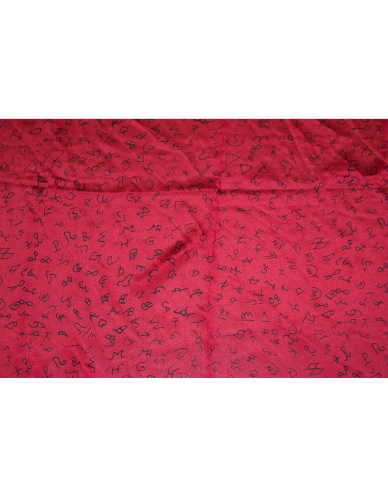 ACCESSORY Branded Red Silk Scarf