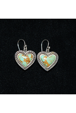 jewelry VIntage Turquoise Heart Hook Earrings