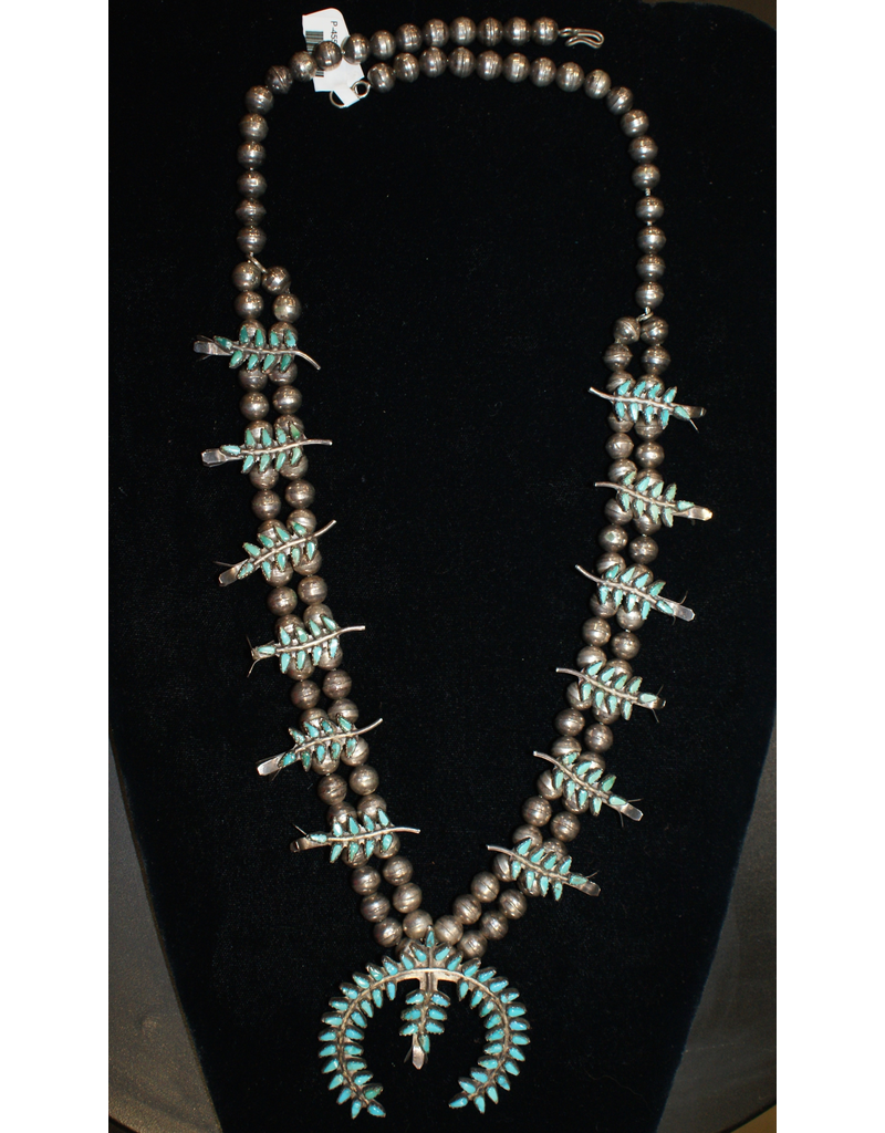 jewelry Vintage Zuni Squash Blossom