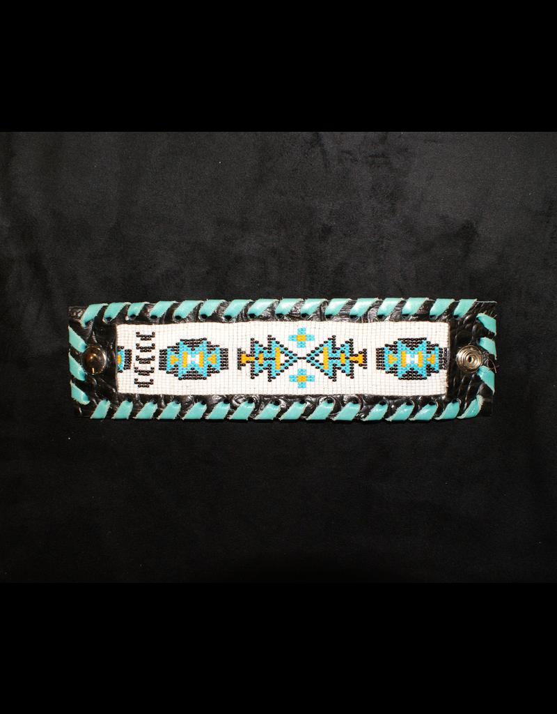 jewelry KurtMen Black & Blue Beaded Cuff