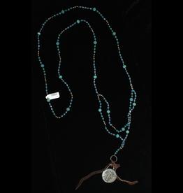 jewelry 3 Angels LT Blue Swarovski with St. Michael Necklace