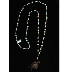 3 Angels African Opal & Crystal Necklace