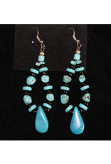 jewelry Vintage Navajo Turquoise Teardrop Earrings