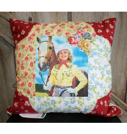 HOMEGOODS Red, Yellow, & Blue Floral Cowgirl Pillow