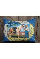 ACCESSORIES Bluebonnets Cowgirl Pillow
