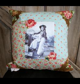 HOMEGOODS Brown, Blue, & Rose Pillow