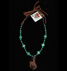 jewelry XOXO Bronc Rider B Turquoise Necklace