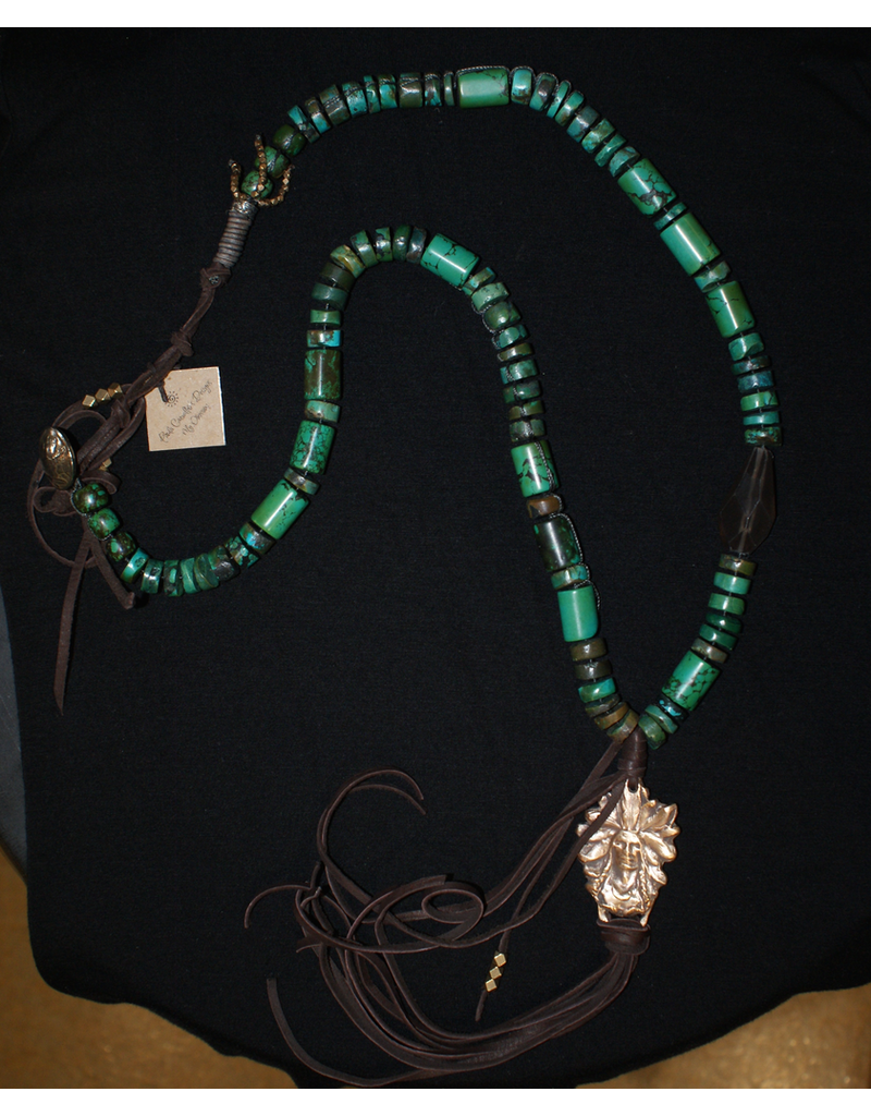 jewelry Paula Carvalho Turquoise Indian Necklace