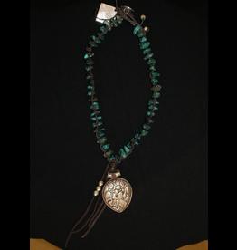 jewelry Paula Carvalho's Turquoise Tibetan Pendant