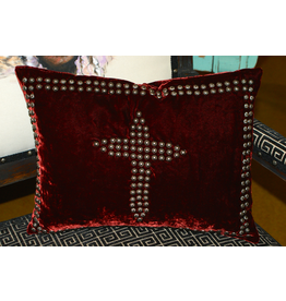 HOMEGOODS Double D Velvet Sunday Cross Pillow