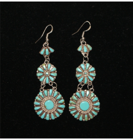 jewelry Navajo Sterling French Hook Petit Point Turquoise Earrings