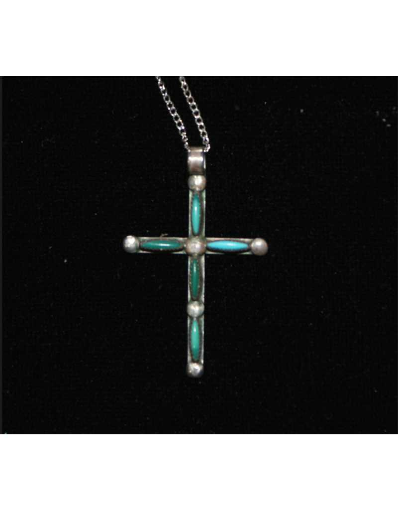 jewelry Vintage Turquoise Cross Necklace