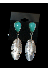 jewelry Turquoise Feather Earrings